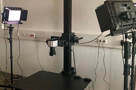 Zweites Beispiel Installation einer Reprokamera