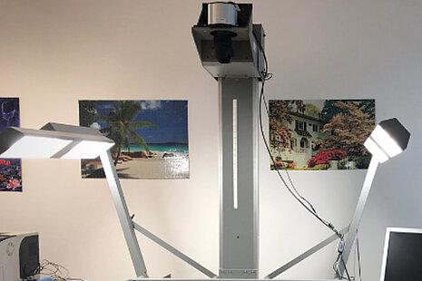 Drittes Beispiel Installation einer Reprokamera