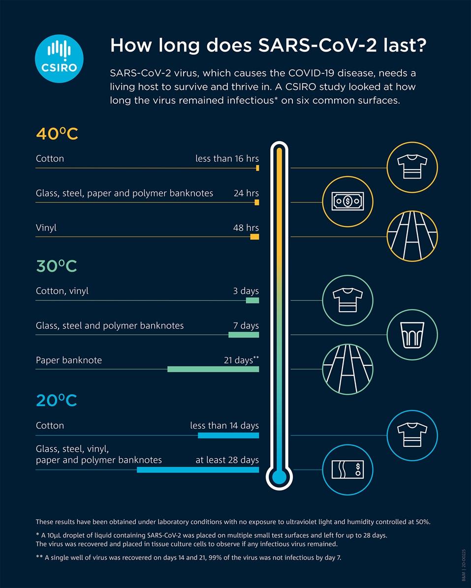 Infographik zum Virus SARS-CoV-2